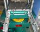 100吨柱式滑道手动推拉装置平板硫化机