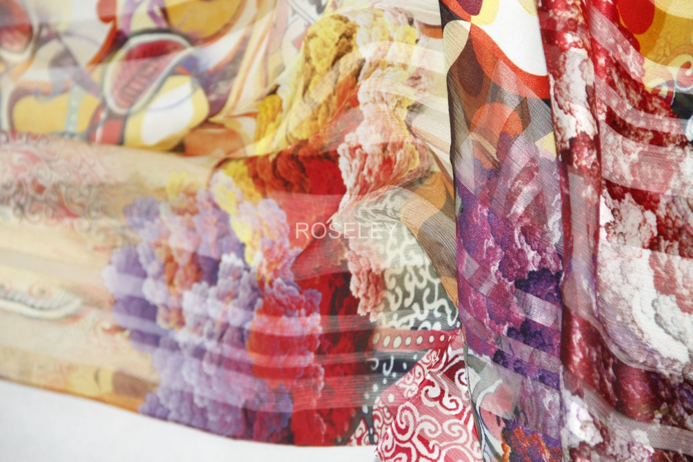 丝绸礼品樱花纹丝巾缎条绡中国风蚕丝女长款真丝丝巾防晒披肩送礼
