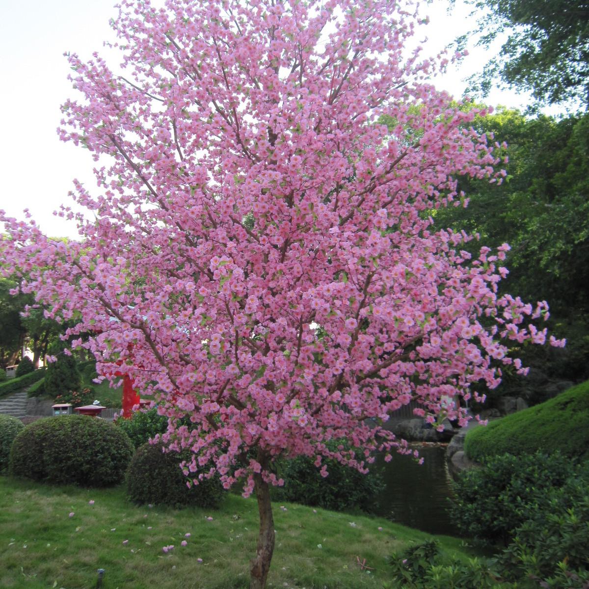 仿真植物落地仿真桃花树室内摆放装饰假树大型仿真树定做 道具桃花树