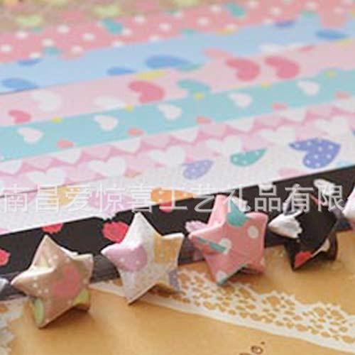 供应现货批发手工折纸工艺品可爱卡通叠星星的纸幸运星折纸diy创意纸