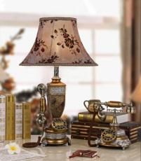 最新供应凯瑞蒂赫马赛克台灯电话机 仿古台灯电话 欧式台灯灯饰电话机