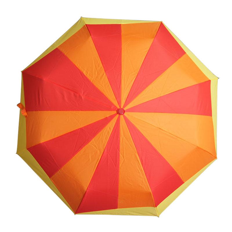 深圳三折伞手动折叠晴雨伞厂家批发 21寸喷橡胶漆伞柄来图样订做