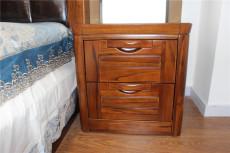 佳语轩实木床边柜全柚木床头柜两斗柜收纳柜厂家直销特价