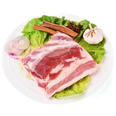 黑山猪五花肉500g 新鲜原切土黑猪肉生猪肉厂家直销