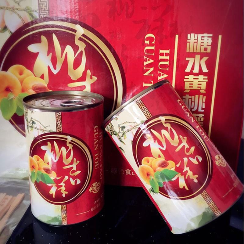 桃吉祥黄桃罐头 12罐每箱 绿色食品 健康美味