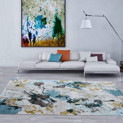 家用简约现代客厅地毯地中海简欧式沙发茶几卧室可水洗地毯