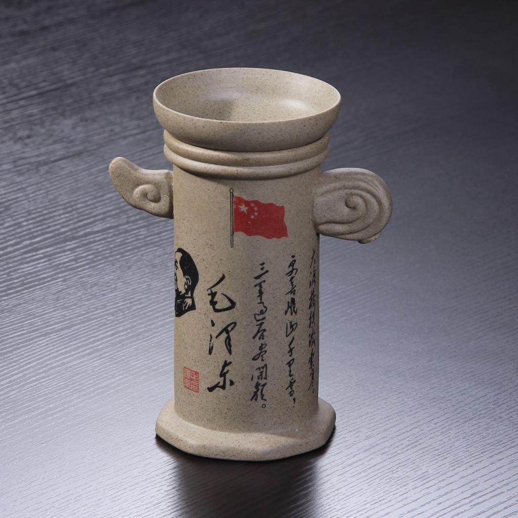 新款创意高档粗陶自动茶漏过滤器陶瓷茶滤网功夫茶具配件套装批发