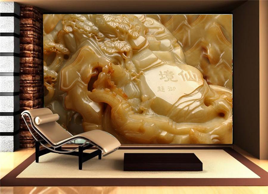 电视背景墙无缝墙布无框画高清装饰画沙发背景墙059