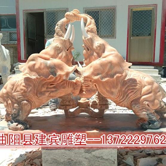 建宾雕塑直供 石雕大象 石雕厂家直销