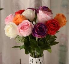 专业销售宝石玫瑰花 情人玫 仿真花绢花干花假花家居装饰花餐桌花艺