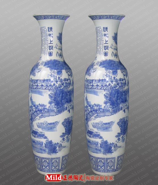 陶瓷大花瓶规格定制高档陶瓷大花瓶