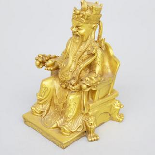 供应纯铜雕工艺品龙椅财神爷