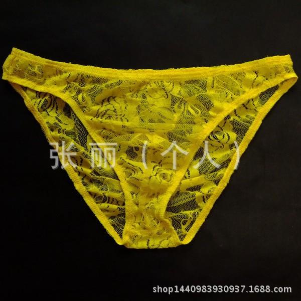 性感男士爱的情趣3109男式情趣内衣电影男式透明内裤三角裤玫瑰屋蕾丝图片