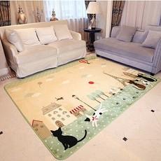 包邮批发毛毯地垫儿童毛毯猫咪卡通地垫客厅地毯卧室书房家用地毯