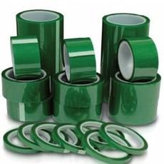 绿色PET高温硅胶带 PET绿色烤漆胶带