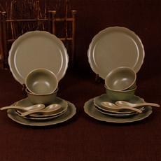 秘色釉.餐器    卢钧窑近代传统创意挂盘类餐具