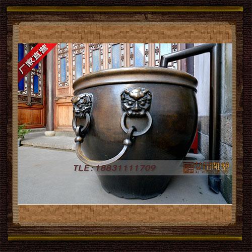 供应  铸造大铜缸 铸铜兽面铜缸   品牌雕塑     厂家直销