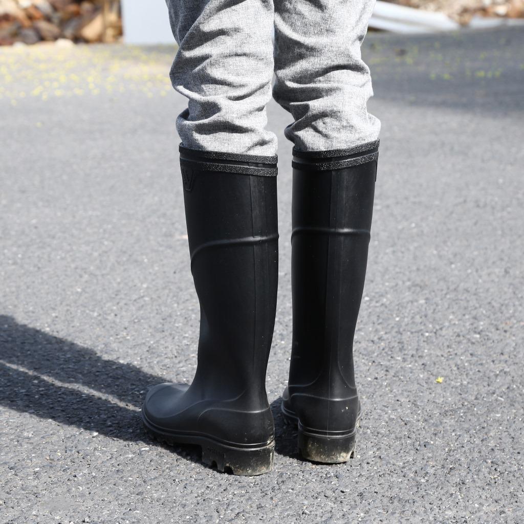 新款男士成人高筒劳保雨靴厂家批发长筒雨鞋现货外贸男式水靴鞋