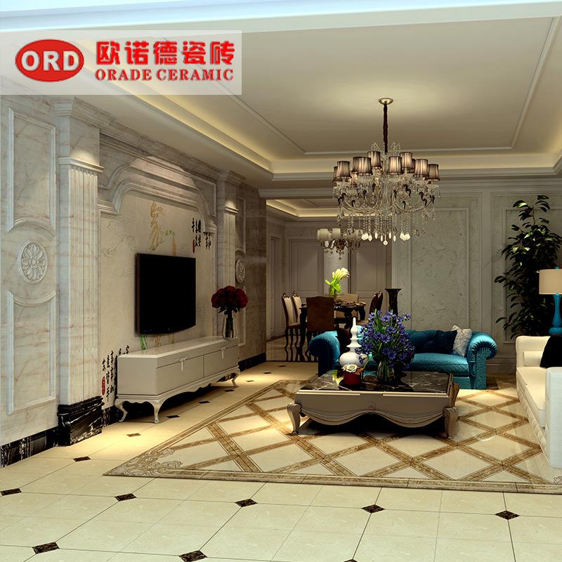 新款热销客厅电视机瓷砖背景墙边框 欧式现代微晶石影视墙罗马柱图片