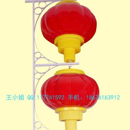 挂在道路二旁的红灯笼-LED红灯笼采用亚克力材料-悬挂红灯笼