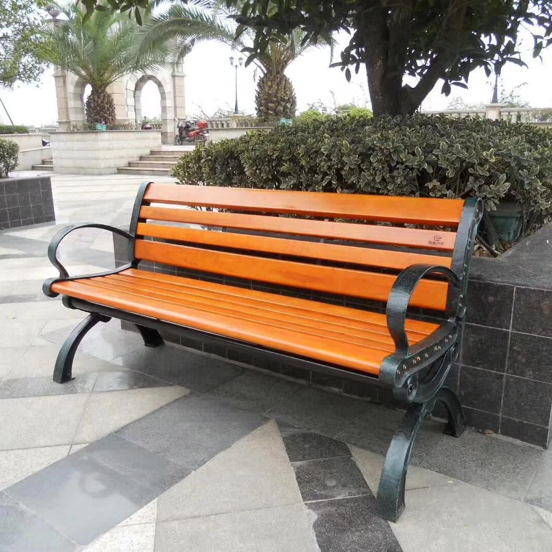 戶外休閑椅低價批發 不銹鋼公園休閑長條椅 不銹鋼實木座凳