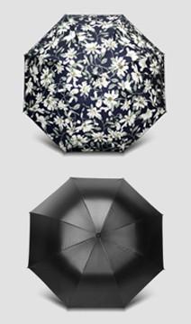 印花纯色太阳伞
