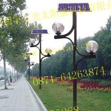 厂家直销庭院路灯富源高效LED太阳能庭院灯照明好亮度强会泽花园小区广场公园太阳能景观灯光伏庭院灯