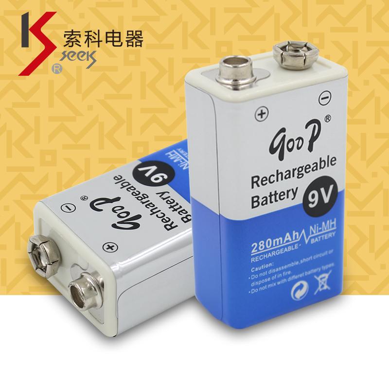供应麦克风电压表可充电电池 导游机电池GODP 9V 280mAH