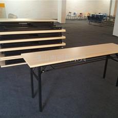折叠桌生产厂家 折叠会议桌图片 折叠台架尺寸 条形桌 展会桌 招聘桌 广告桌