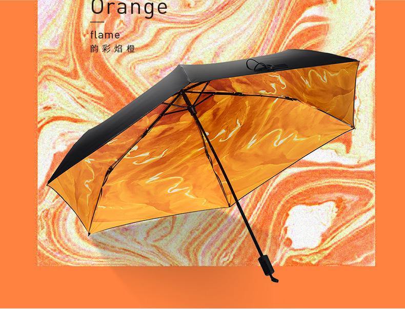 供应 女学生折叠防晒小黑伞超轻太阳伞晴雨伞黑胶遮阳伞防紫外线