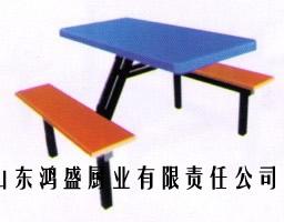 【陕西4人连体餐桌椅】【汉中学校餐桌椅】