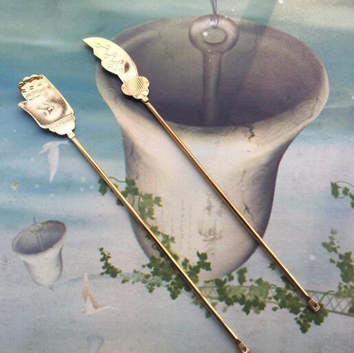 供应 佛教用品佛具法器合金出食器施食佛手刀出食刀水陆法