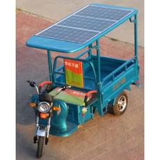 新能源电动车三块太阳能板蓝色