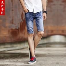 2016夏季新款牛仔短裤男 破洞薄款五分裤 韩版修身牛仔裤纯棉批发