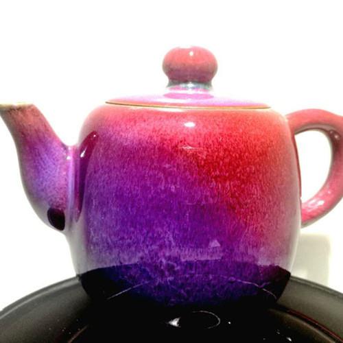 太平壶--豫鼎钧窑仿宋古典传统高温煤烧精品创意茶具