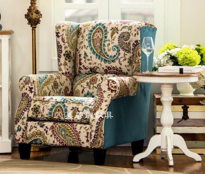 欧式单人沙发美式高档酒店咖啡厅别墅客厅卧室书房麻