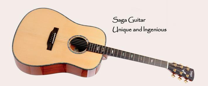 SAGA吉他SL8