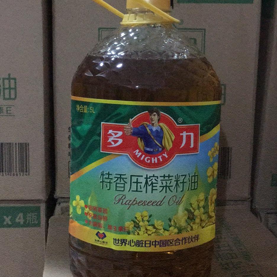 多力特香压榨非转基因菜籽油 5L 菜籽油价格实惠 量大从优