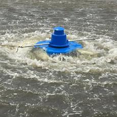 水库鱼塘0.75KW推浪式增氧泵