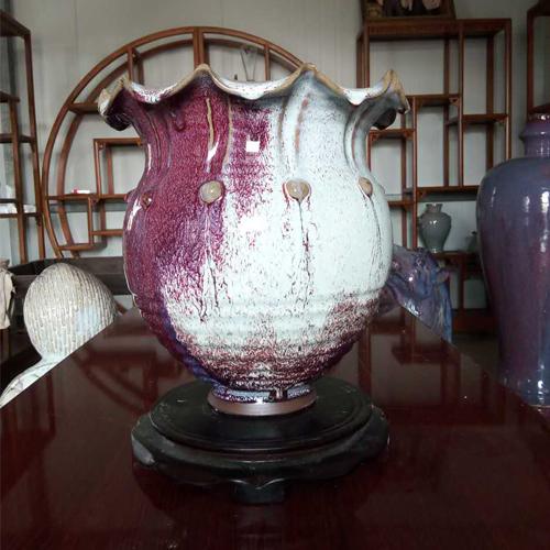河口尊  神土钧窑现代艺术品钧瓷摆件收藏