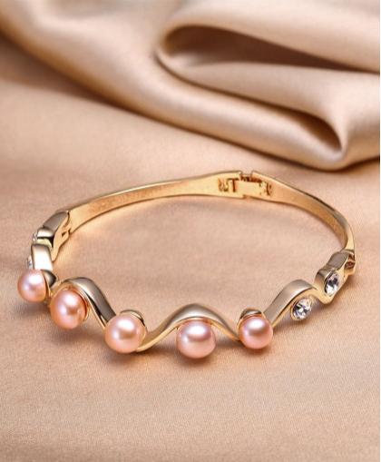 珍珠批發市場 SANDYRILLA 優雅復古風精致天然珍珠手鐲 附證書