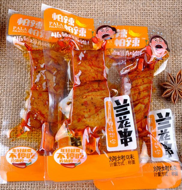 怕辣怕辣视频串豆干5斤/袋v视频豆腐干武冈香线机兰花剪图片