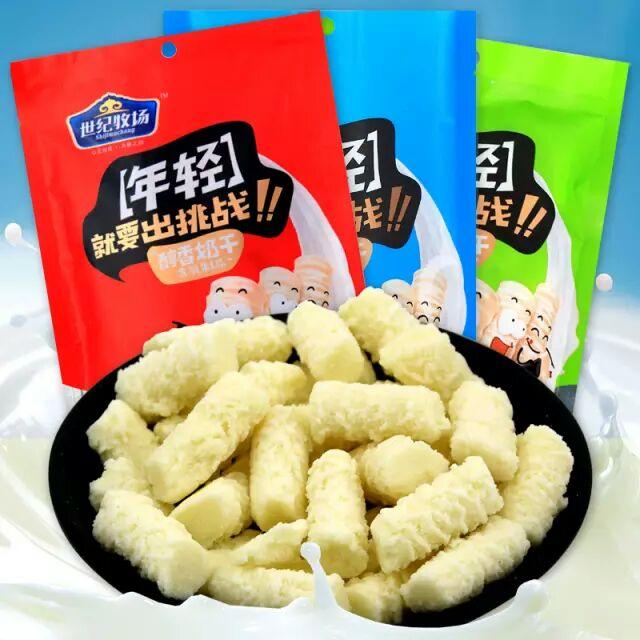 世纪牧场醇香奶干 奶酥内蒙古奶酪条特产零食乳制品独立包装200g