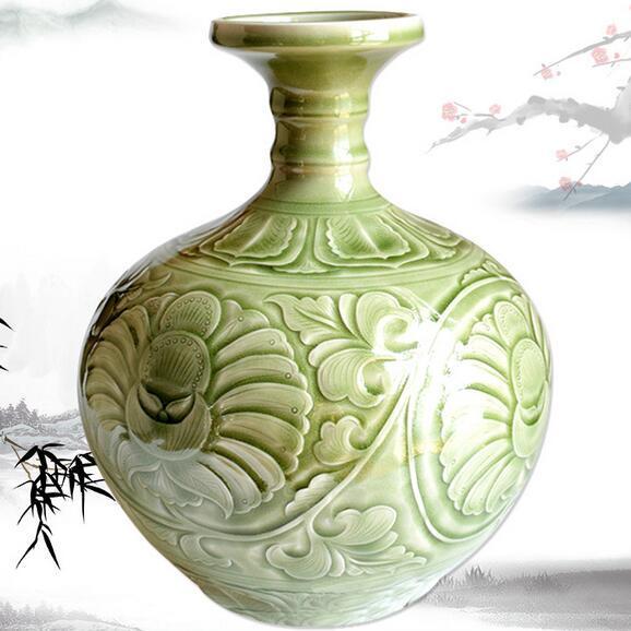 供应 耀州瓷蒜头瓶
