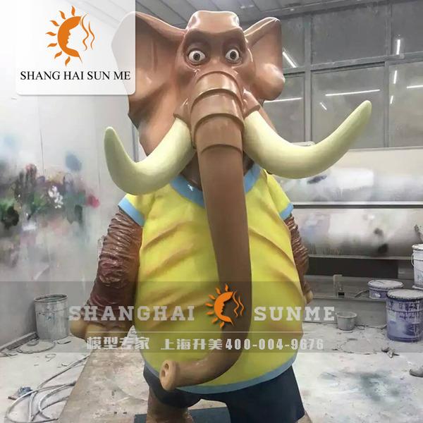 上海升美疯狂动物城玻璃钢雕塑卡通树脂模型道具商场