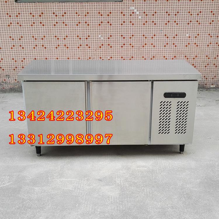 雪尼尔1.5米厨房工作台 带靠背 冷藏冷冻不锈钢工作台 100%铜管