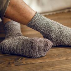 民族风粗棉线复古棉袜