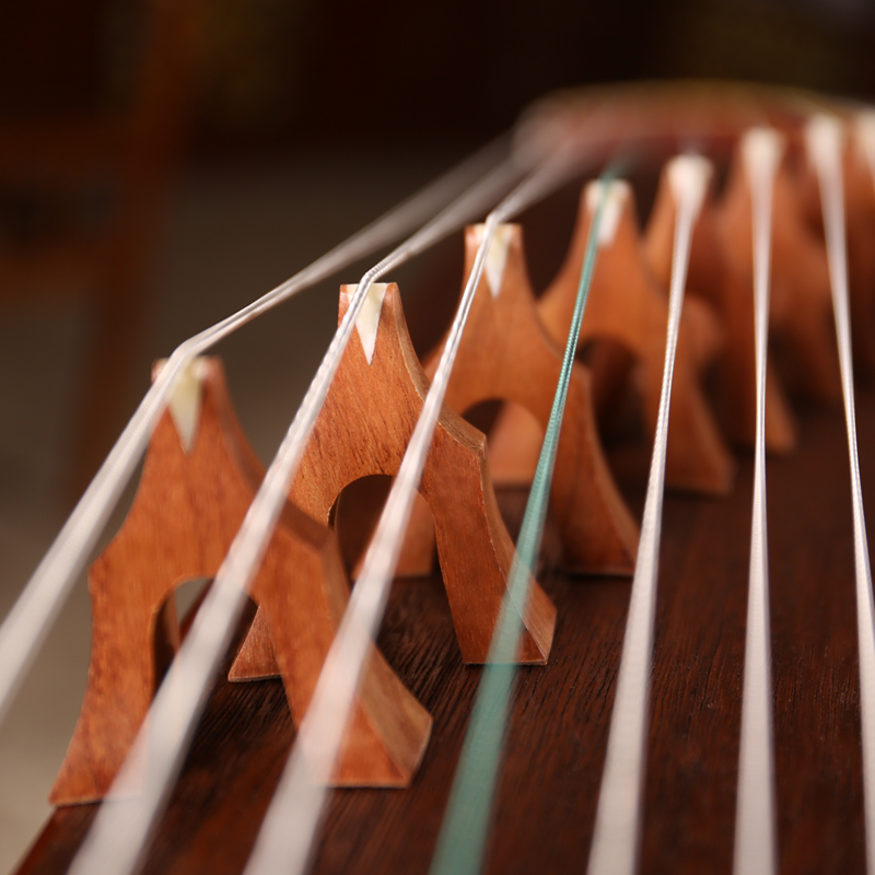 祥音古筝初学者入门考级十级筝专业演奏乐器黑檀实木古筝敦煌品质