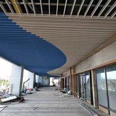 滴水挂片 商场安装的铝挂片 贵州乐斯尔品牌铝天花吊顶铝建材厂家