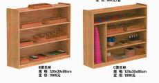 幼儿园配套设施 儿童卡通书柜价格 定做幼儿园蒙氏柜